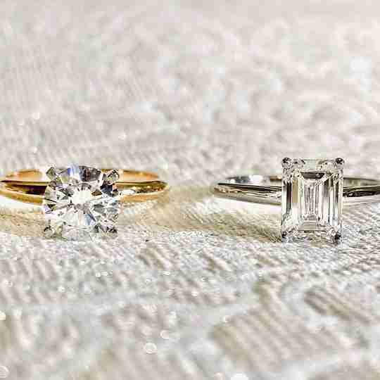 Two Rogers & Hollands diamond rings