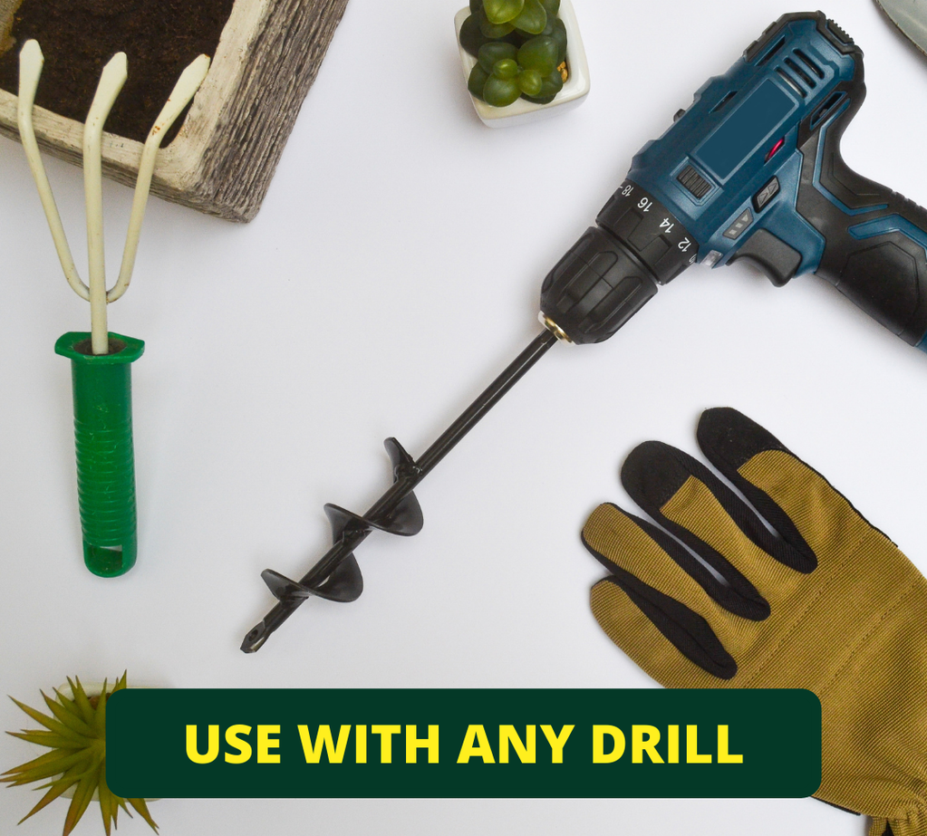 You can use the drill&plant mini with any standard drill