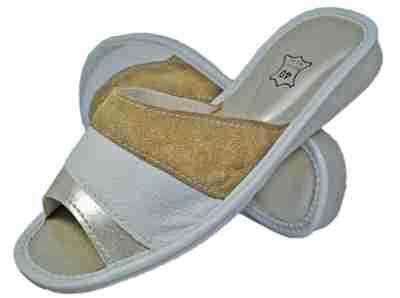 Ivory Women bedroom slippers - Reindeer leather