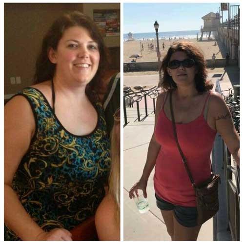 avant et après des photos de femme