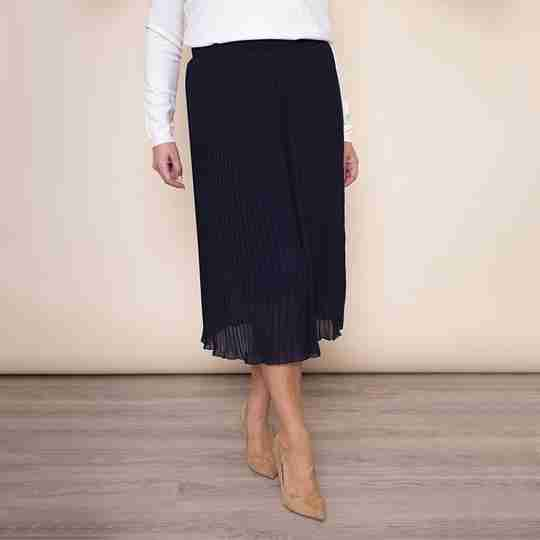Long Pleat Skirt(White)