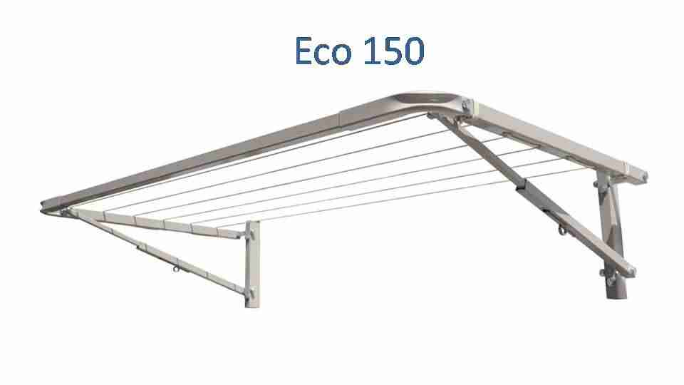 eco 150 fold down clothesline 1400mm wide deployed