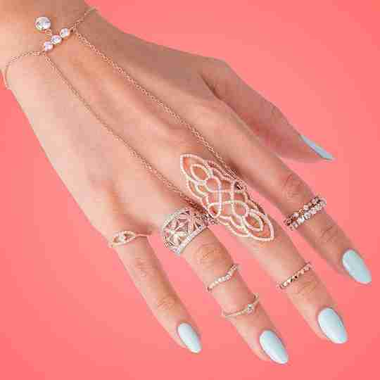 A set of rings from Dreamland Jewelry