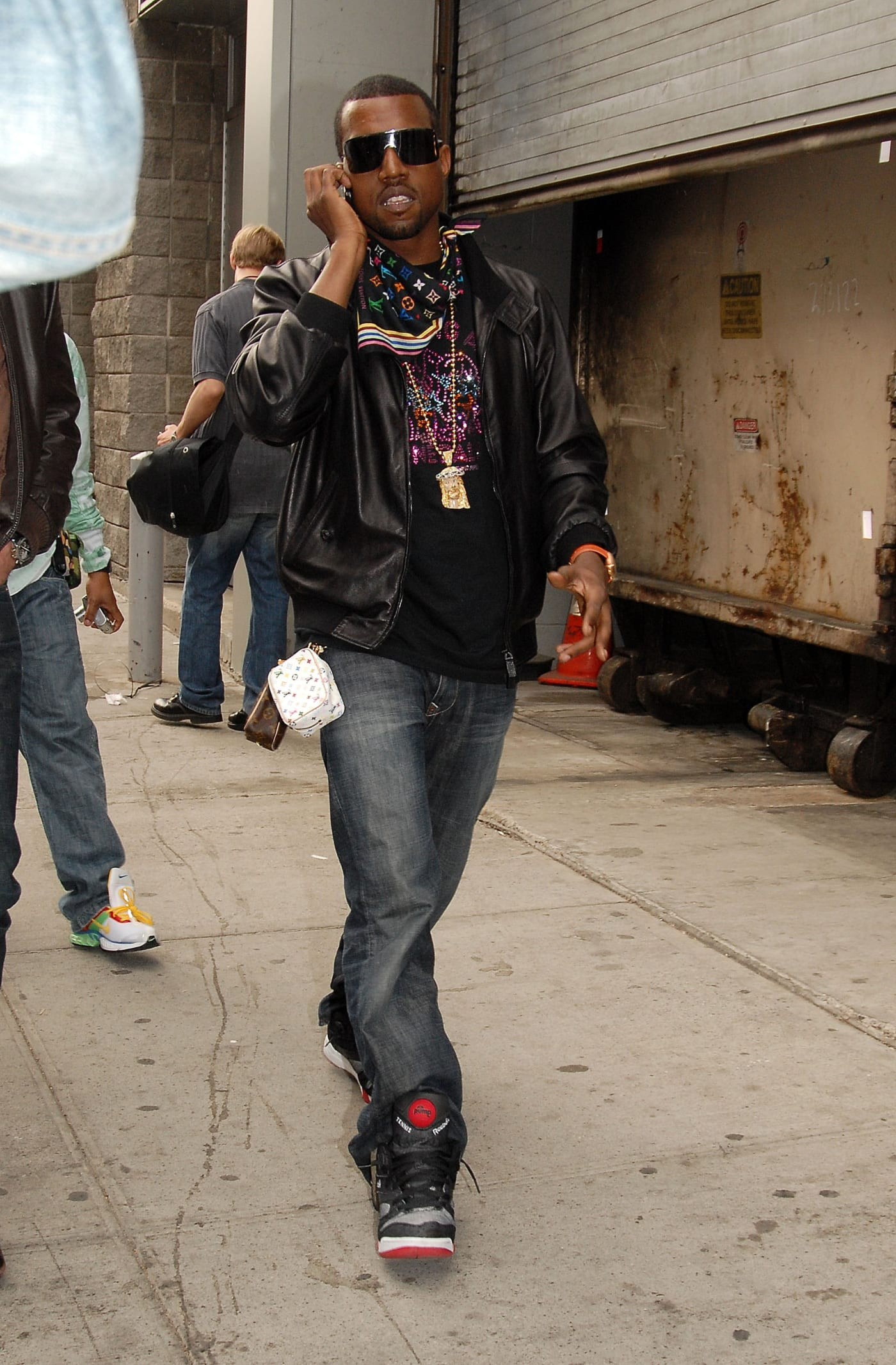 Kanye West in the Reebok Pump Court Victory