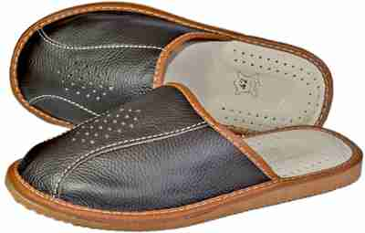 Bronson Mens bedroom slippers - Reindeer leather