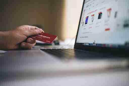 online shopping credit card macbook computer