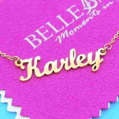 Name Necklace by Belle Fever