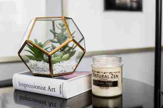Amber Musk Candelilla and Coconut Natural Candle from Natural Zen