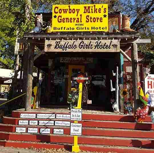 Outside Cowboy Mike's General Store in Canton, Texas