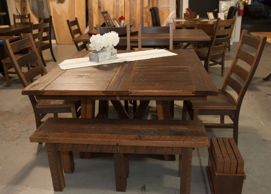 Hawthorne Reclaimed Wood Extendable Dining Table