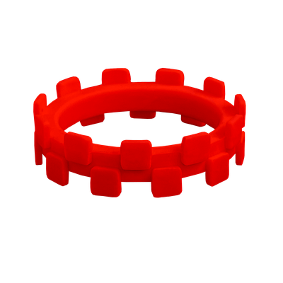 Ladybug red colored inner checker silicone ring.