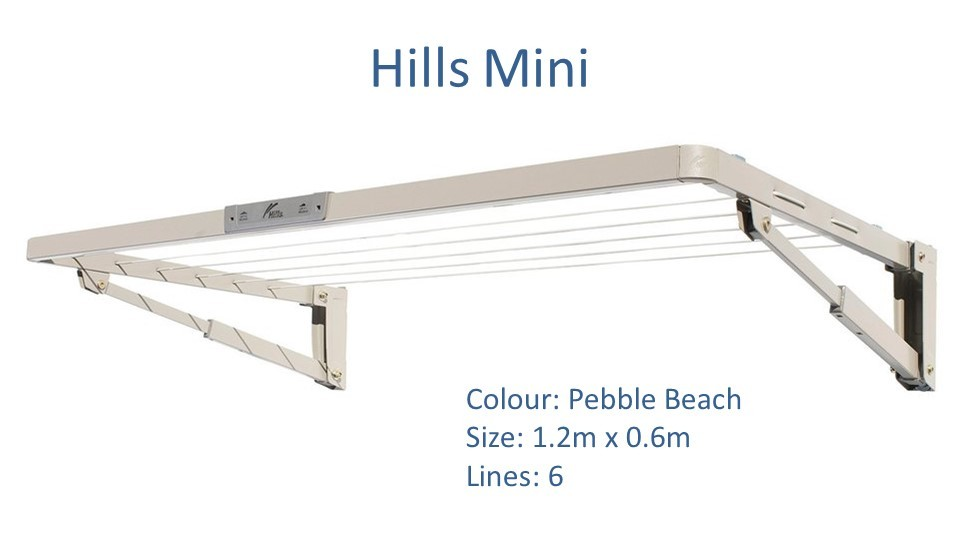 hills mini fold down clothesline 1.2m by 0.6m