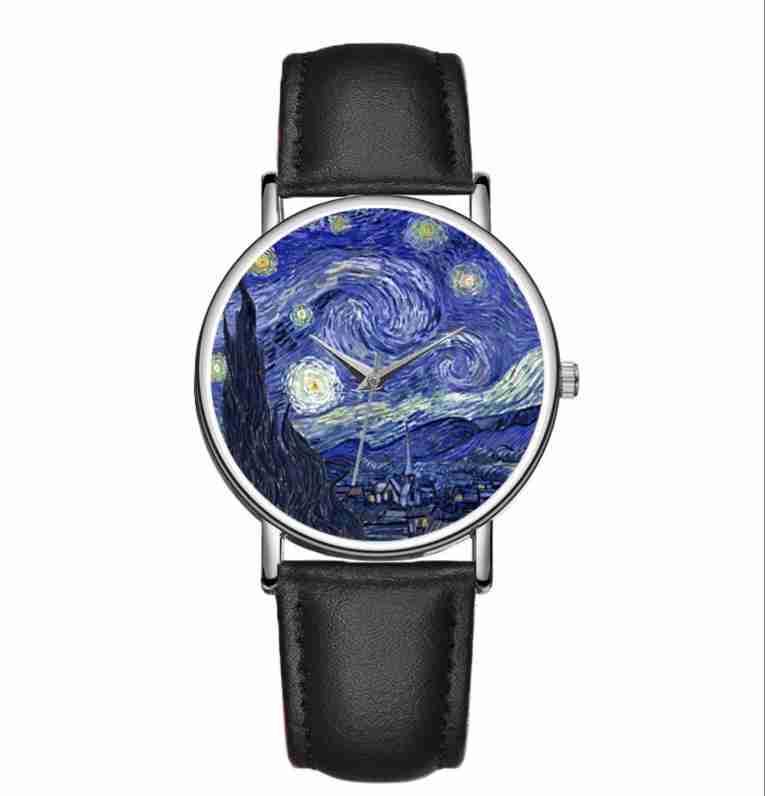 Starry Night wristwatch custom printed