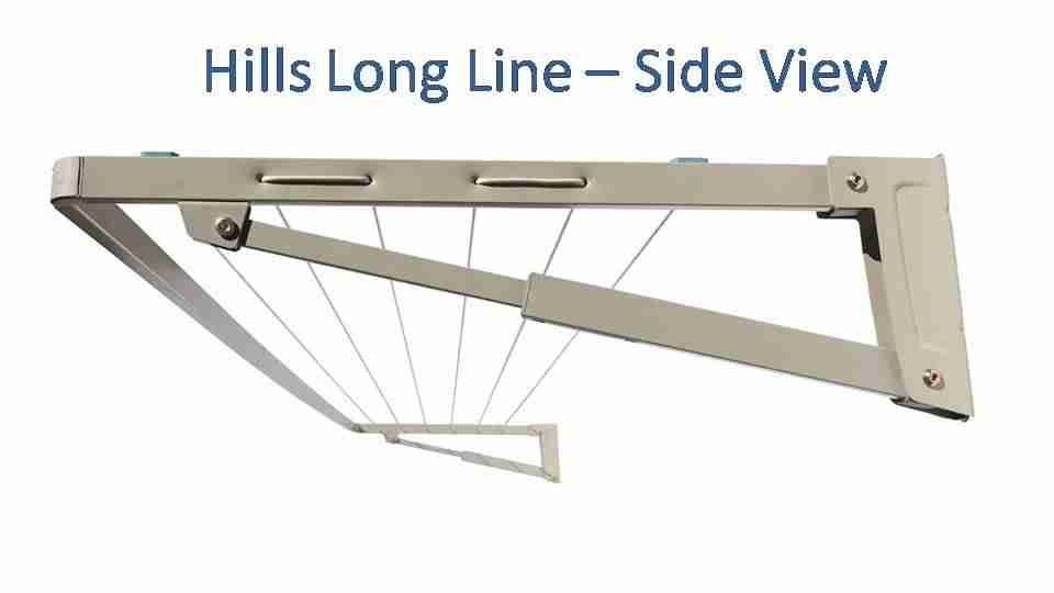 340cm clothesline hills long side view