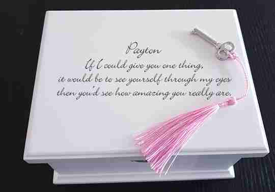 Personalized Wooden Musical Jewelry Box