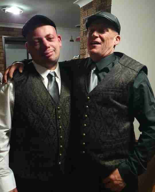 Craig and Lincoln groom and best man wearing Gunpowder & Gold vests from Gallery Serpentine