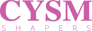 cysm shapers logo in color pink