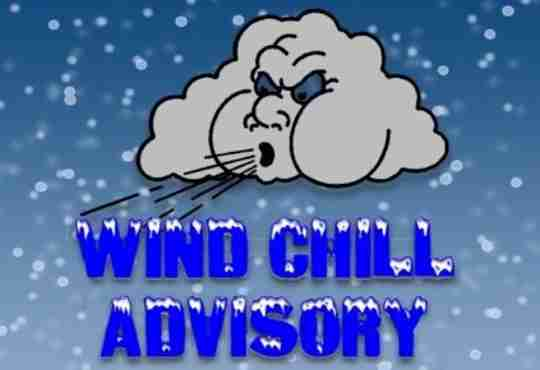wind chill advisory symbol cloud blowing wind with snow