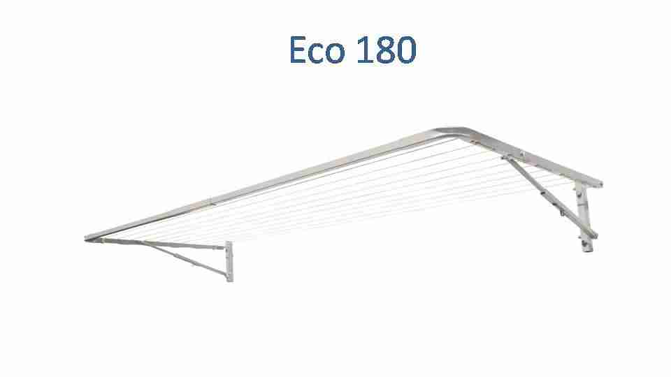 eco 180 fold down clothesline 1700mm wide deployed