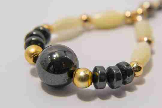 Jewelry made with a black pearl