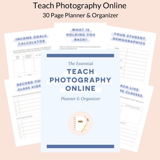 teach photography online planner