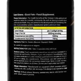 Omega 3 Good Fats Fish Oils Label Ingredients