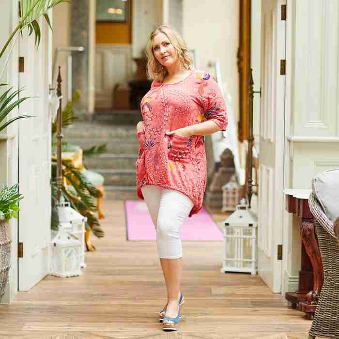 Lily Cotton Top (Coral)