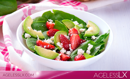 Spinach Strawberry Avocado Salad
