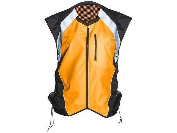 Badass Moto Motorcycle Hi-Viz Vest Orange