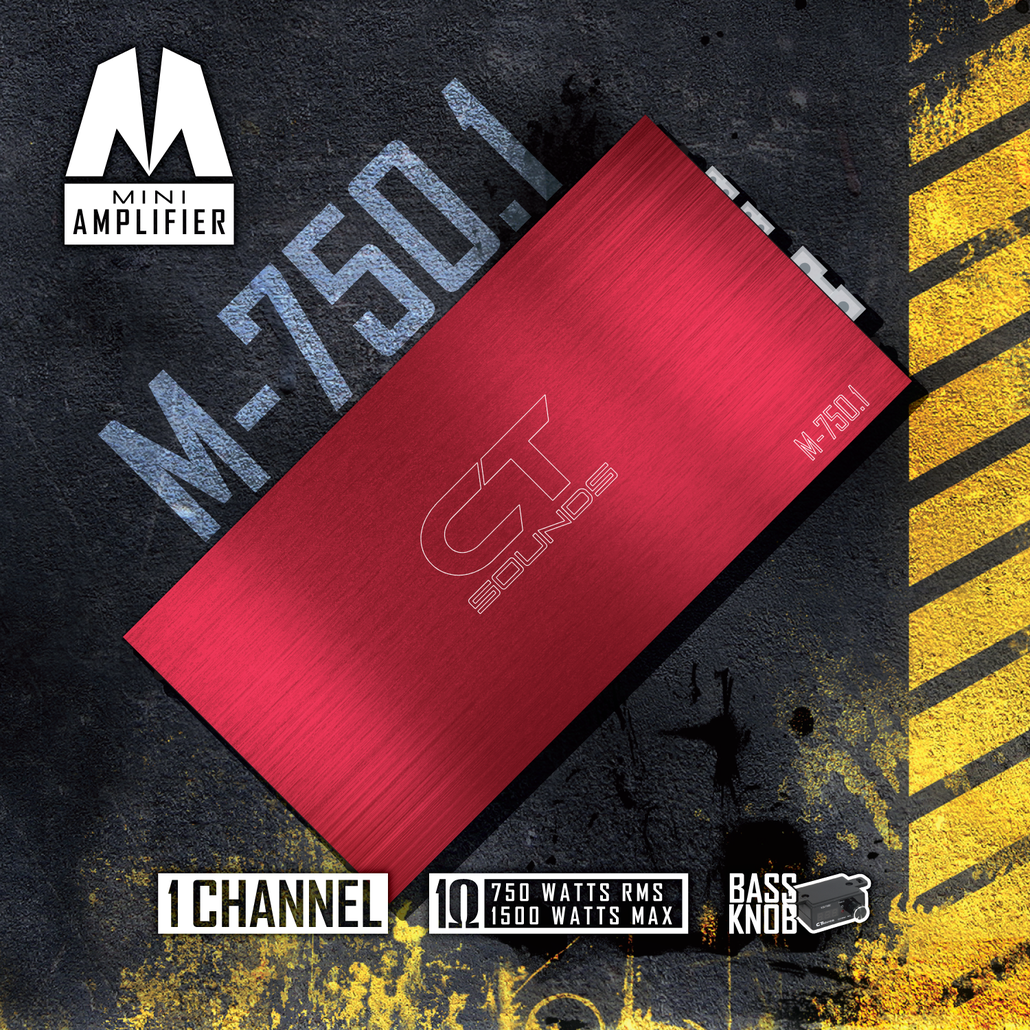 CT Sounds M-750.1 Car Audio Amplifier