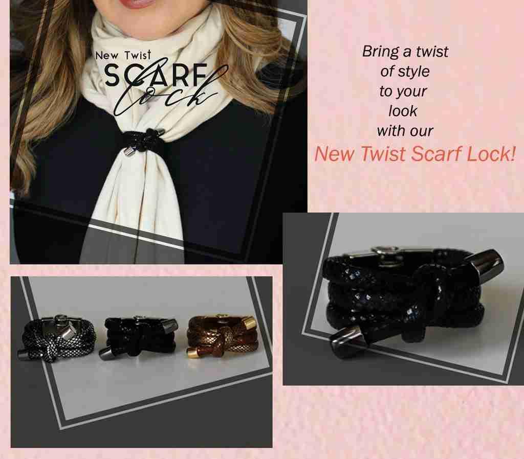 New Twist Scarf Lock - Lock and Shine