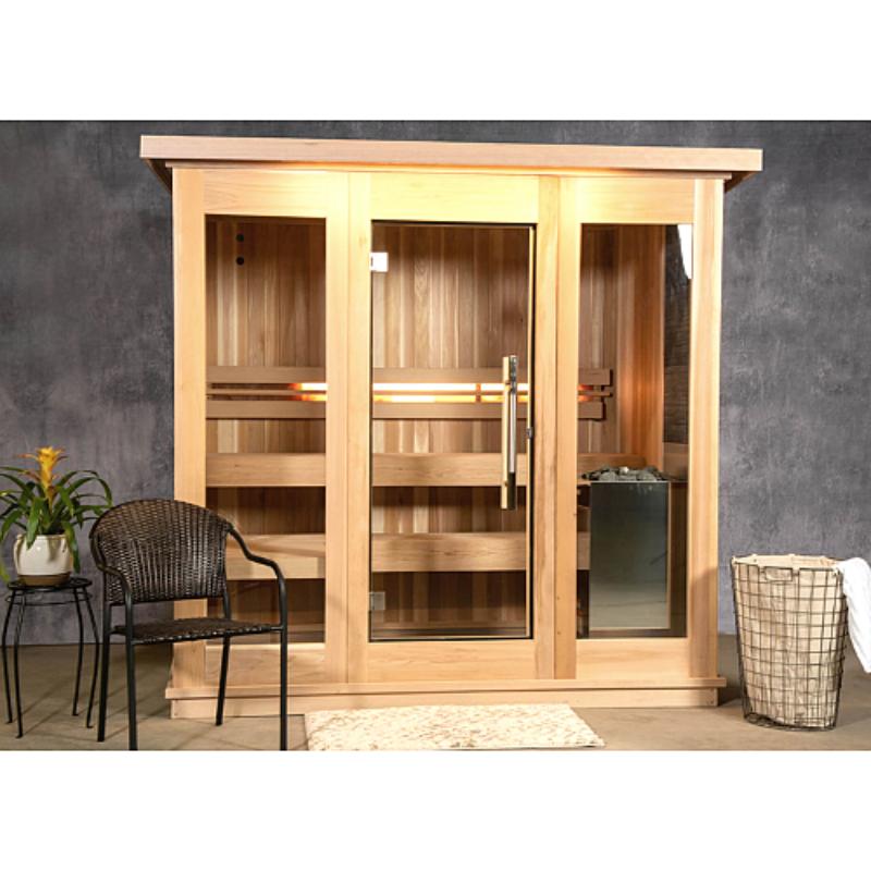 Clear Red Cedar Indoor Sauna