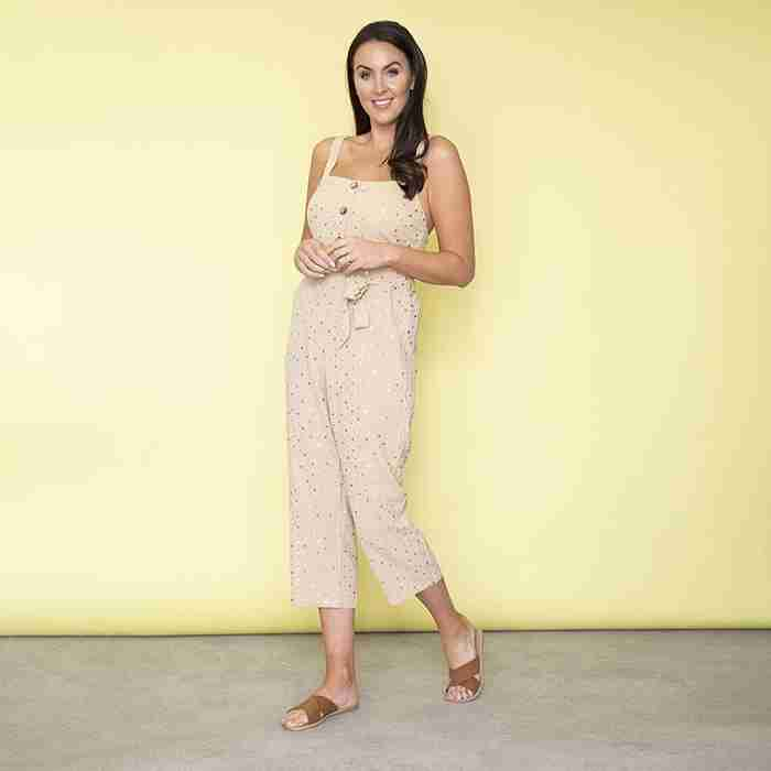 Isabella Sweetheart Jumpsuit (Cream)