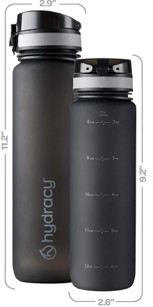 Space Grey Sports Water Bottle Time Marker