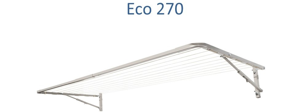 Eco 270 2.6m wide clotheslines