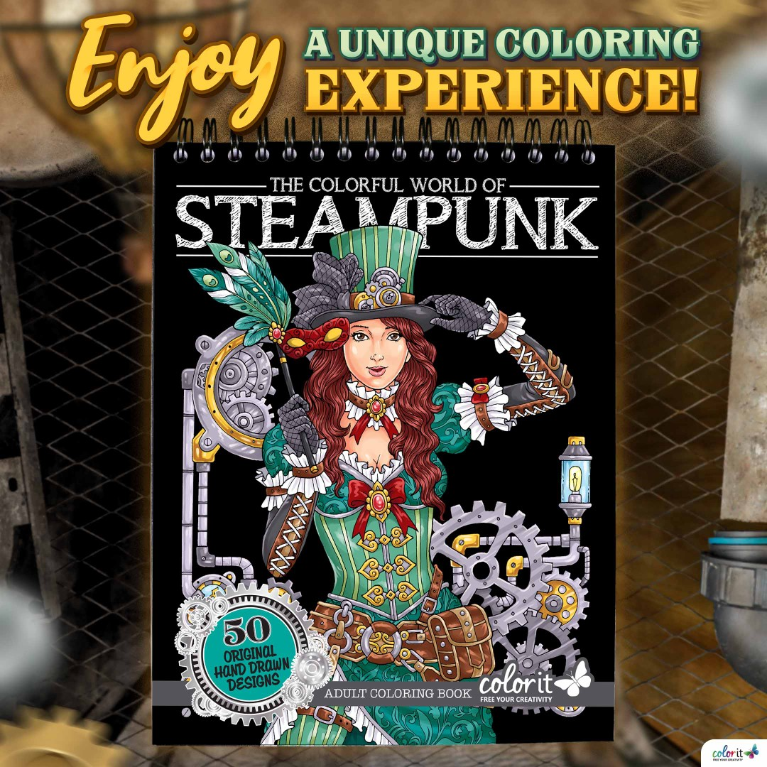 The Colorful World of Steampunk Illustrated By Hasby Mubarok