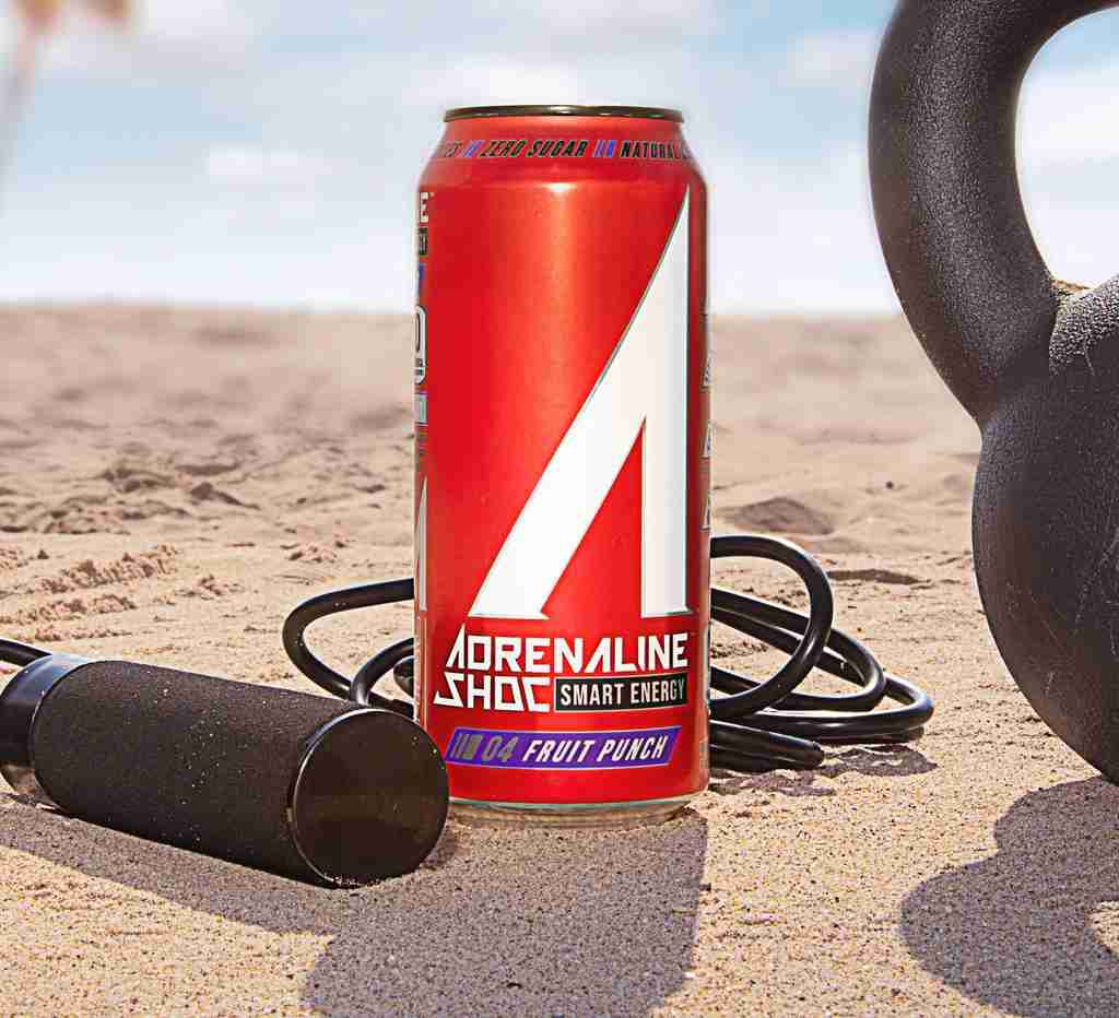 Photo of a can on the beach.