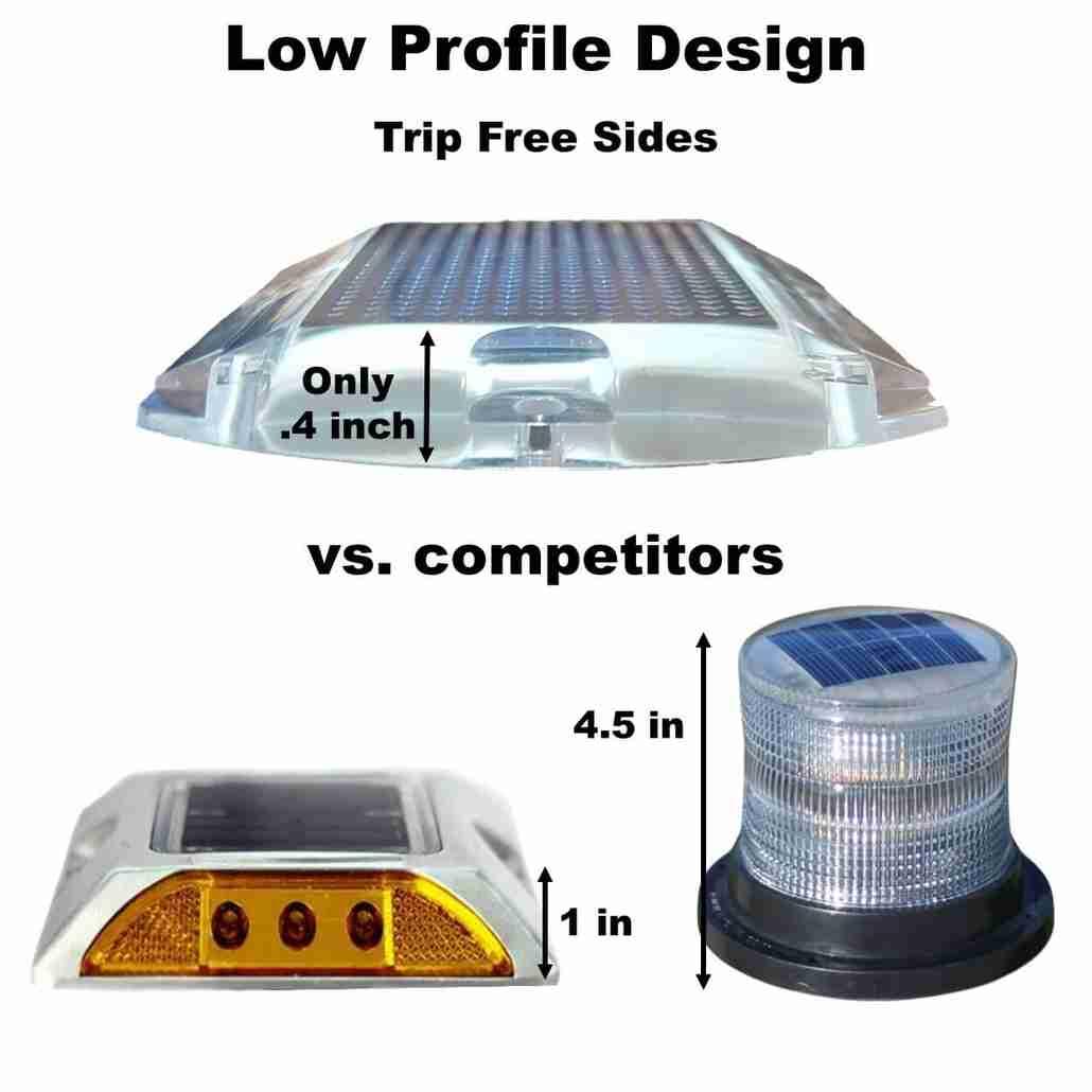 illumisea low profile solar dock lights