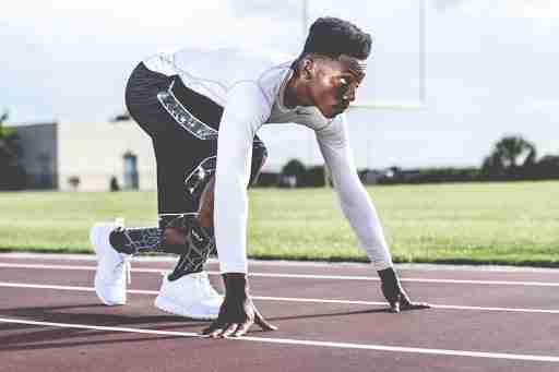 cardio running track athlete