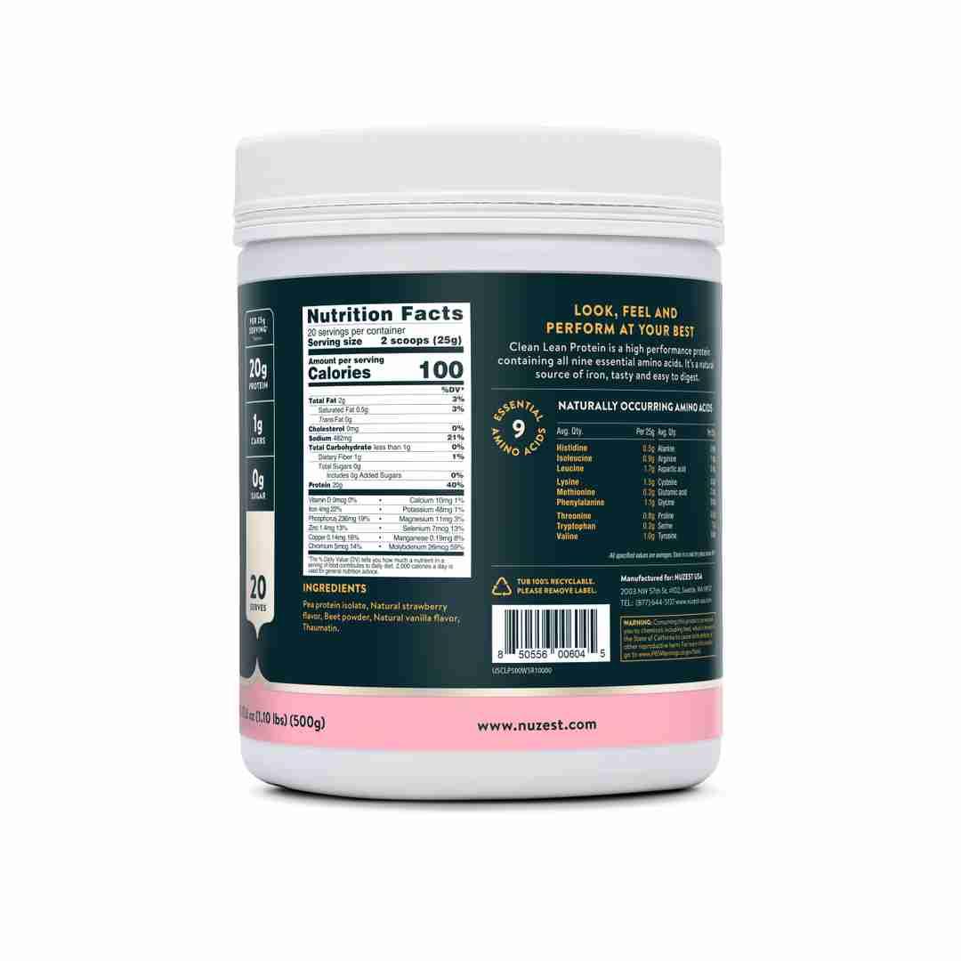Wild Strawberry Ingredient Label