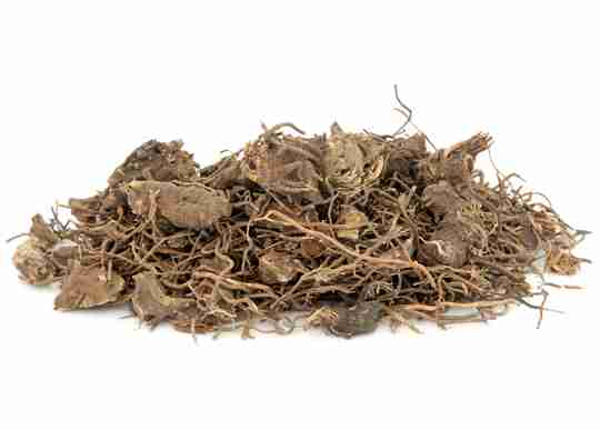 Black cohosh root with white black ground