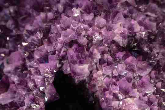 Amethyst gemstone close up