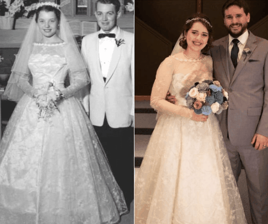 wedding in the past and wedding in current times