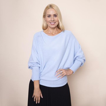 Batwing Soft Jumper(Blue)