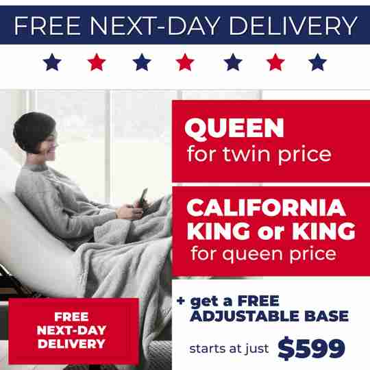 King For Queen + Free Adjustable Base Mattress Sale at Sleep First