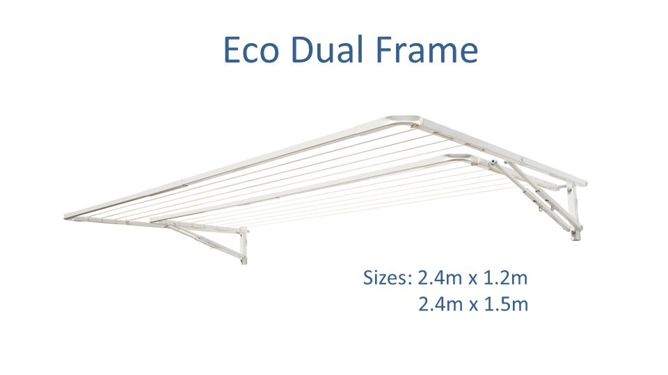 eco dual frame 2.4m wide dimensions