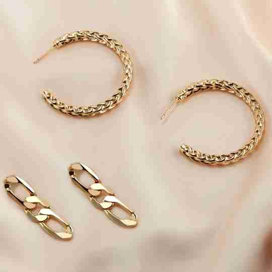 Sterling Forever Earrings in gold