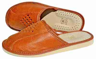 Hadley - Mens leather indoor slippers - Reindeer leather