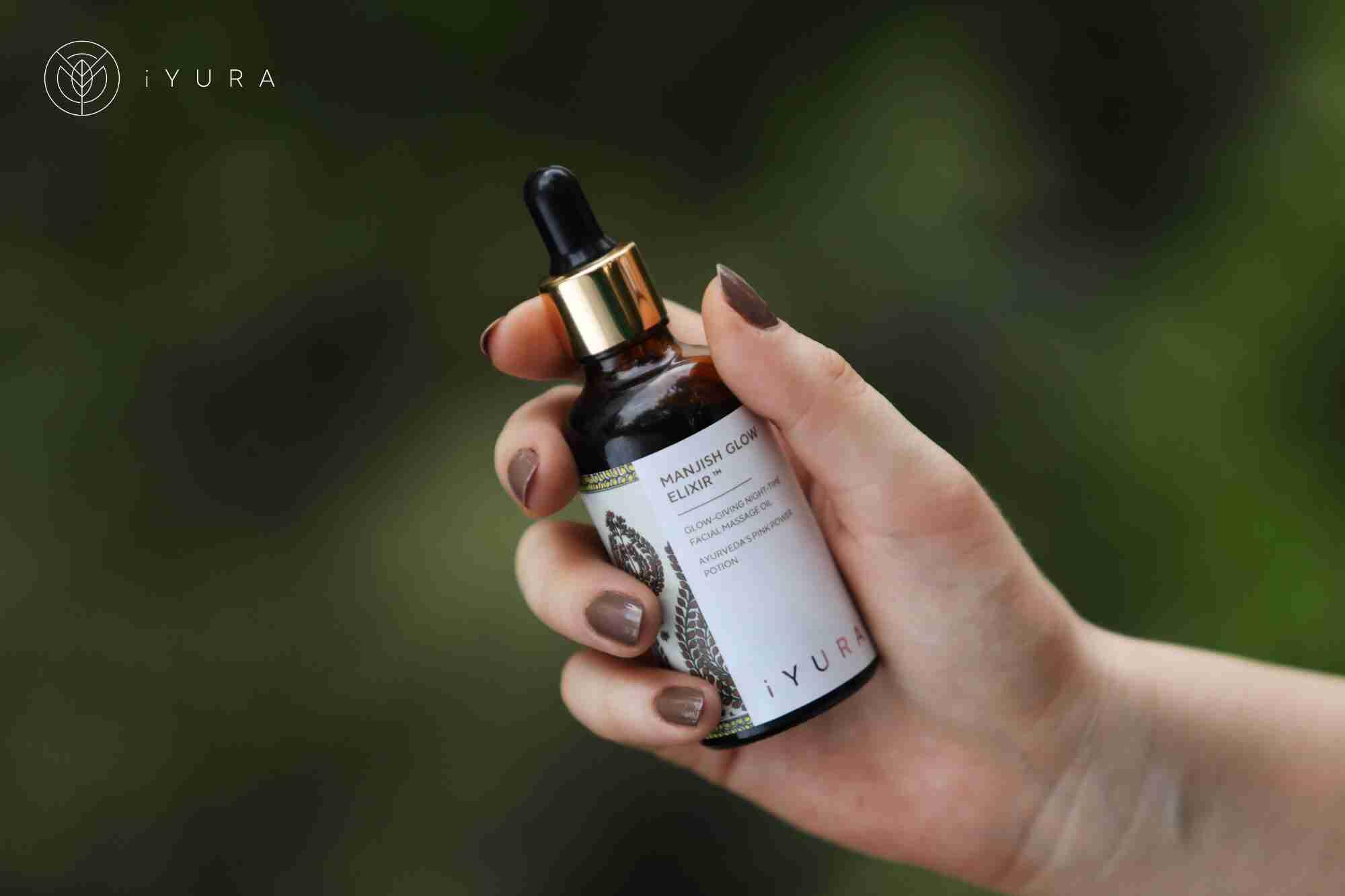 iYURA Manjish Glow Elixir - 4 drops, 5 minutes every night for a natural, no makeup glow!
