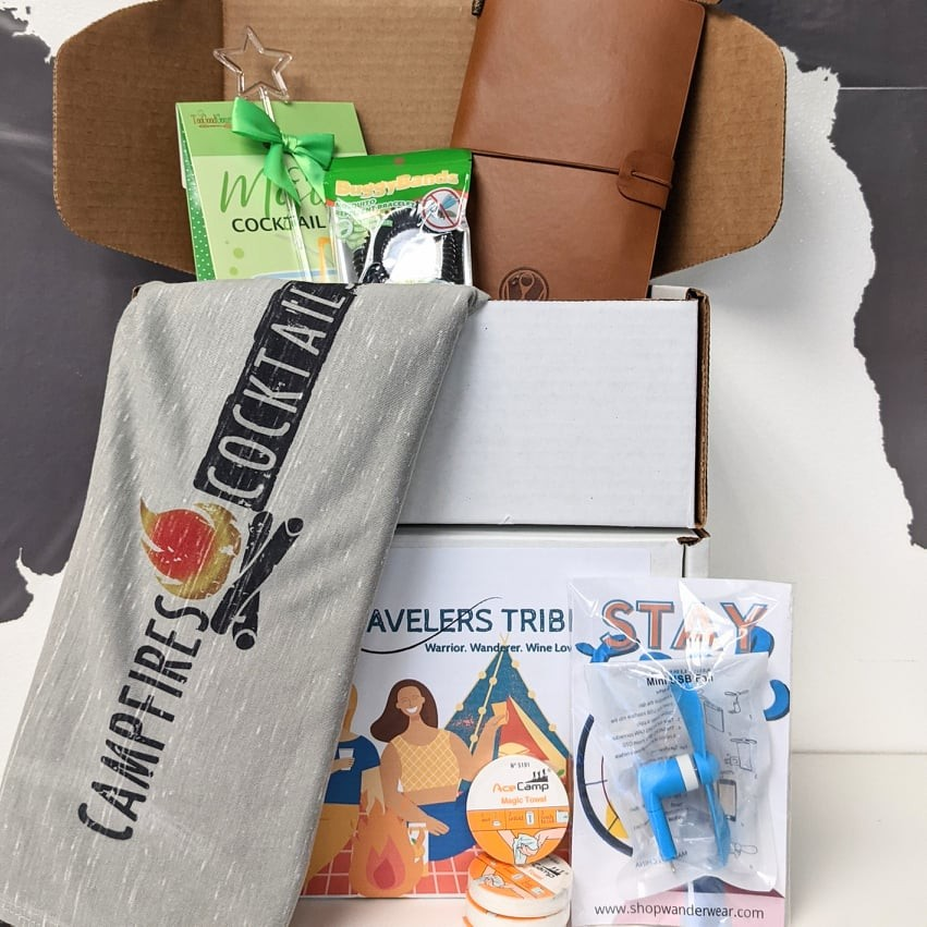 The Tipsy Traveler Subscription Box   Campfires & Cocktails